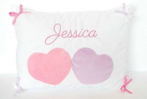 Personalized Hearts Pillow