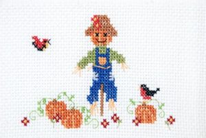 Scarecrow Cross Stitch Towel