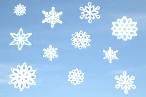 Window Snowflakes – Shades of Blue