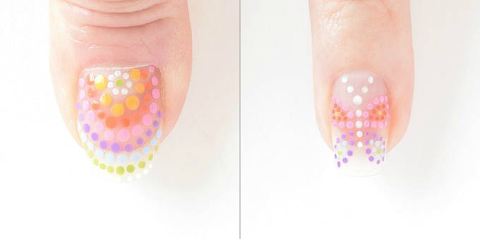 Rainbow Nails - Thumb and Ring | yesilovewalmart.com