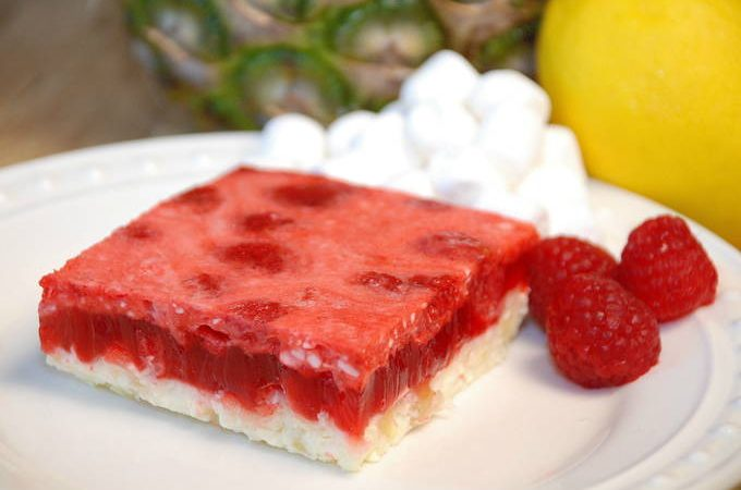 Raspberry Pineapple Dessert   yesilovewalmart.com