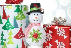 Quilted Snowman Ornament