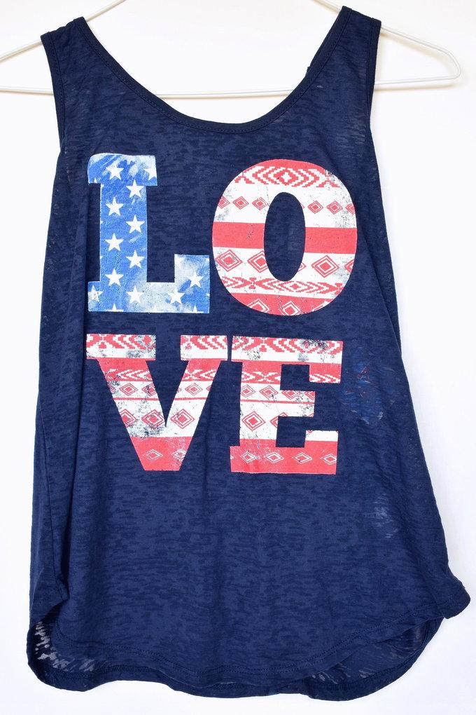 Americana Fashion - Graphic Tank - Navy | yesilovewalmart.com