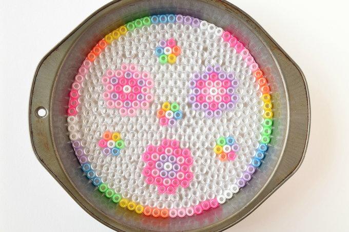 Melted Pony Beads - Dish Background   yesilovewalmart.com