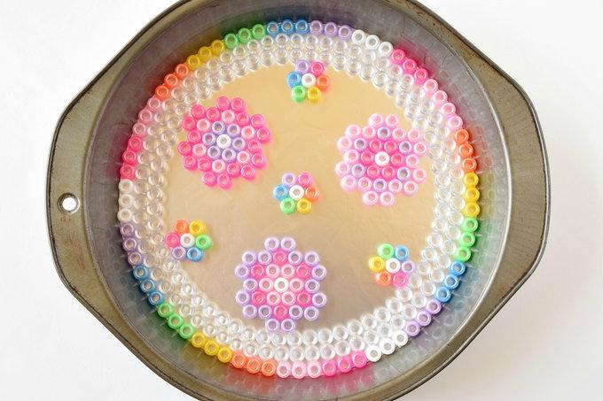 Mel;ted Pony Beads - Dish Flowers   yesilovewalmart.com