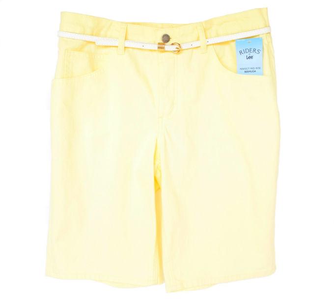 olorful Shorts - Belted Perfect Yellow | yesilovewalmart