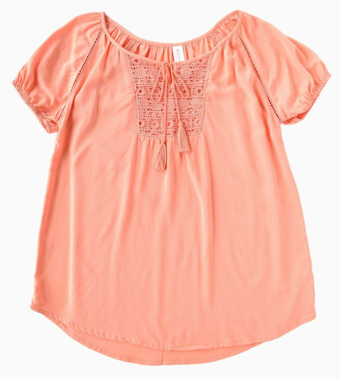 Lace Tops - Front Peasant| yesilovewalmart.com
