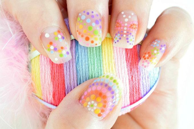 Rainbow Nails | yesilovewalmart.com