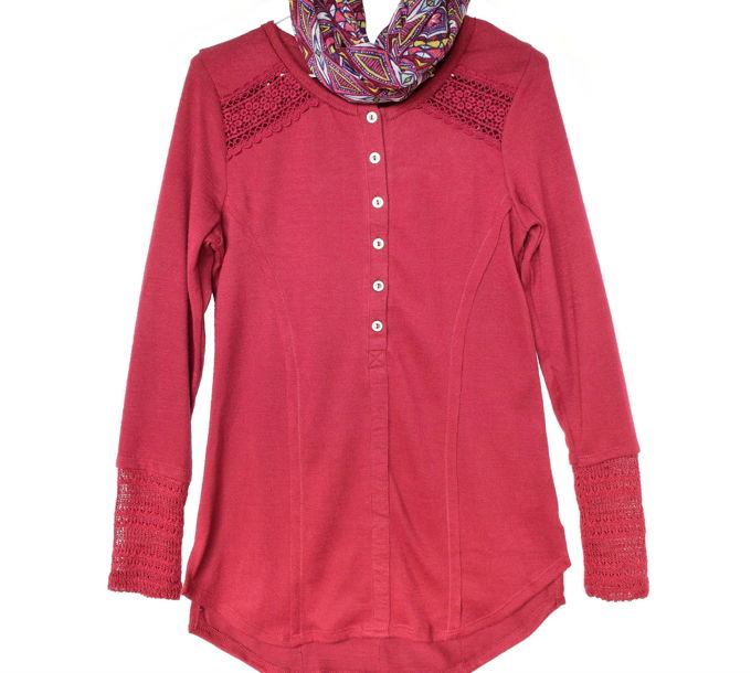 fall-lace-tops-burgundy | yesilovewalmart.com