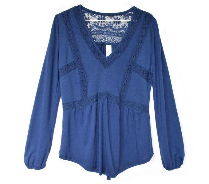 fall-lace-tops-navy | yesilovewalmart.com