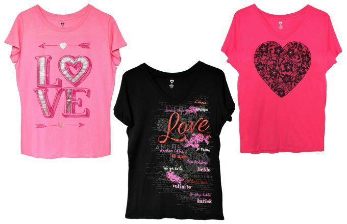 Valentine Shirts   yesilovewalmart.com