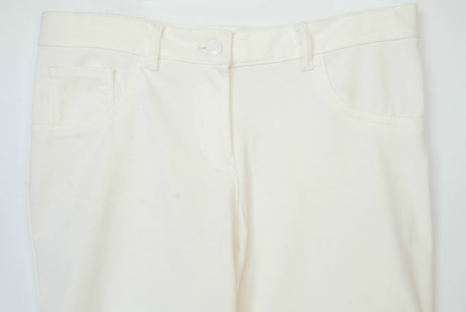Winter White Casual Outfit -Ponte Pant