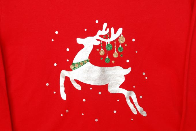 Winter White Casual Outfit - Red Reindeer