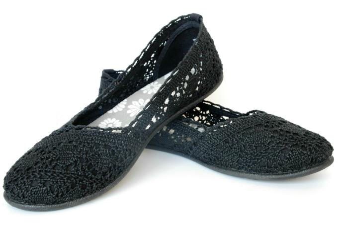 Black Peasant, Soft Jeggings - Charmi A-Line Flats