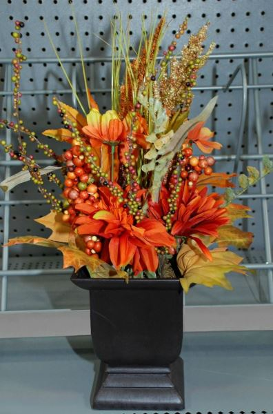 Fall Decor - Potted Flowers
