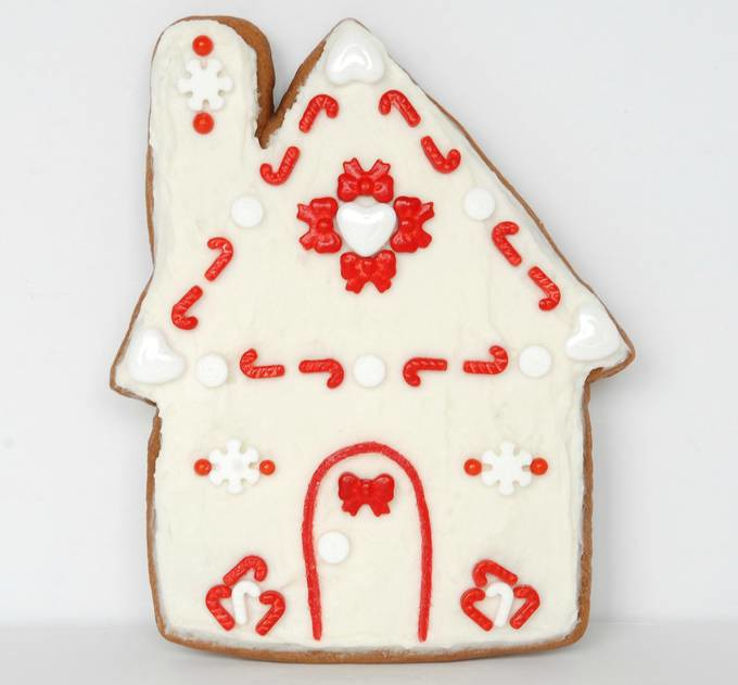 Gingerbread House Cookies - Quilt Cookie