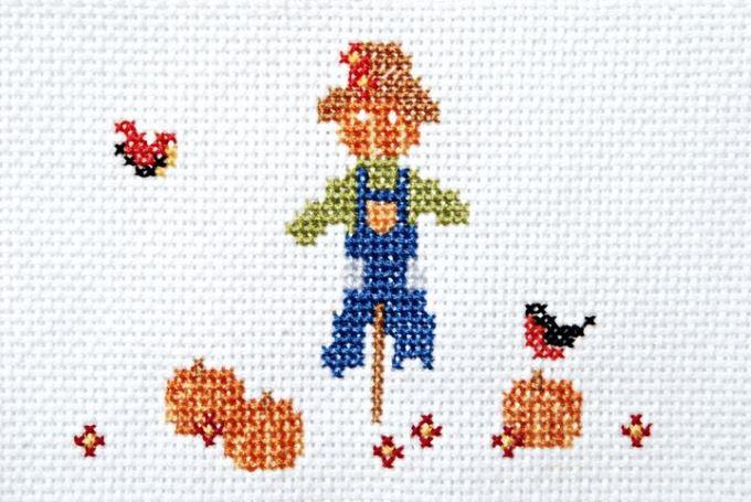 Scarecrow Cross Stitch Beginner