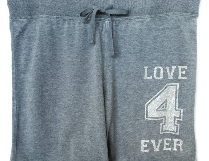 Love 4 Ever Pink Gray Workout - Graphic Yoga Pant