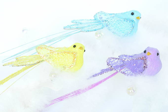 Colorful Easter Decor - Bird Clip | yesilovewalmart.com