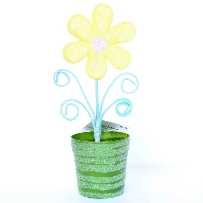 Colorful Easter Decor - Flower Potted | yesilovewalmart.com