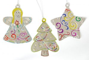 Embossed Metal Ornaments | yesilovewalmart.com