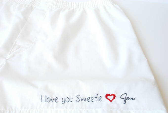Show Your Love With Personalized Embroidery - Love