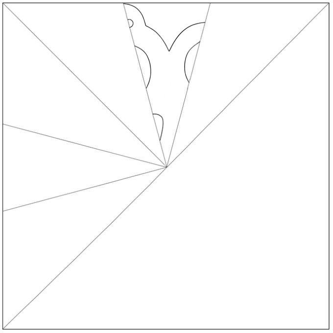 Snowflake, Folded Paper - Isbella Pattern