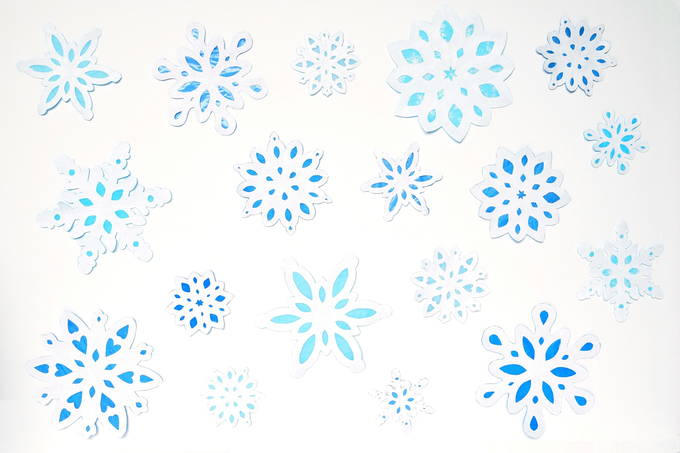 Window Snowflakes - Blue
