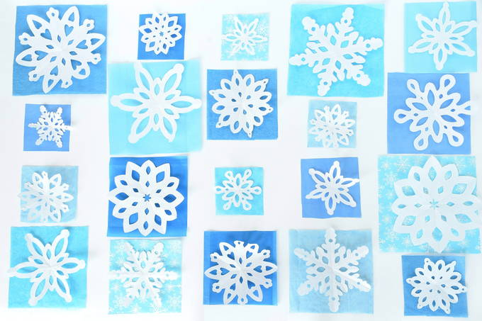 Window Snowflakes - Directions