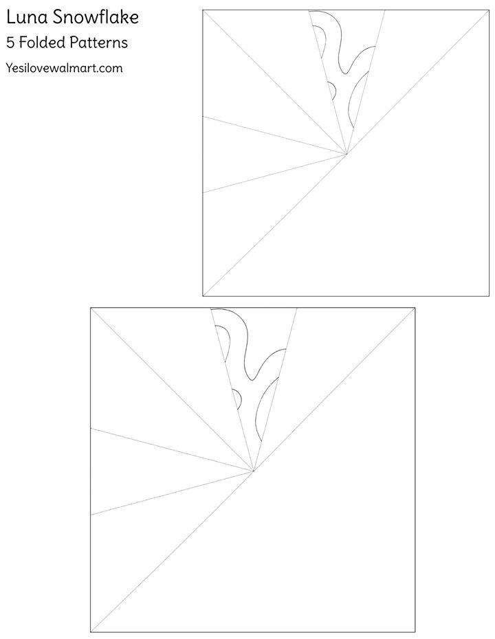 Window Snowflakes - Luna Pattern