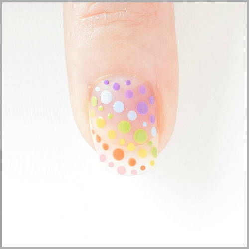 Rainbow Nails Directions - Diagpmal Dots