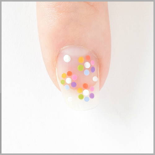 Rainbow Nails Directions - Flowers, Dots