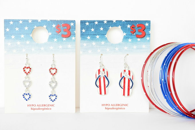 Americana Fashion - Earrings, Bracelet | yesilovewalmart.com