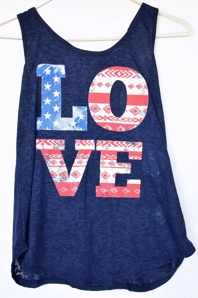 Americana Fashion - Graphic Tank - Navy | yesilovewalmart.com