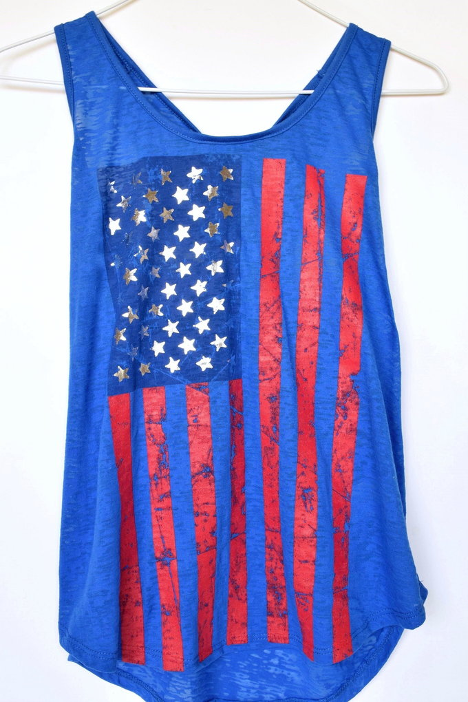 Americana Fashion - Graphic Tank - Ultra Blue | yesilovewalmart.com
