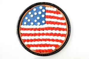 Patriotic Flag Chocolate Chip Cookie
