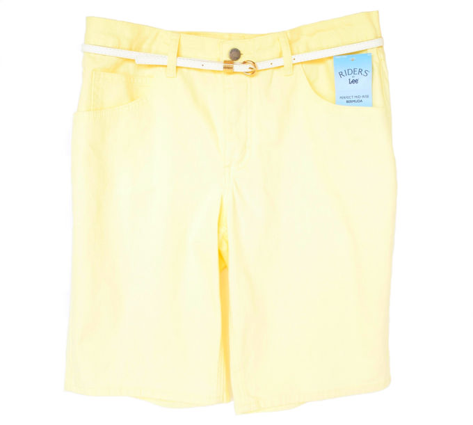 olorful Shorts - Belted Perfect Yellow | yesilovewalmart