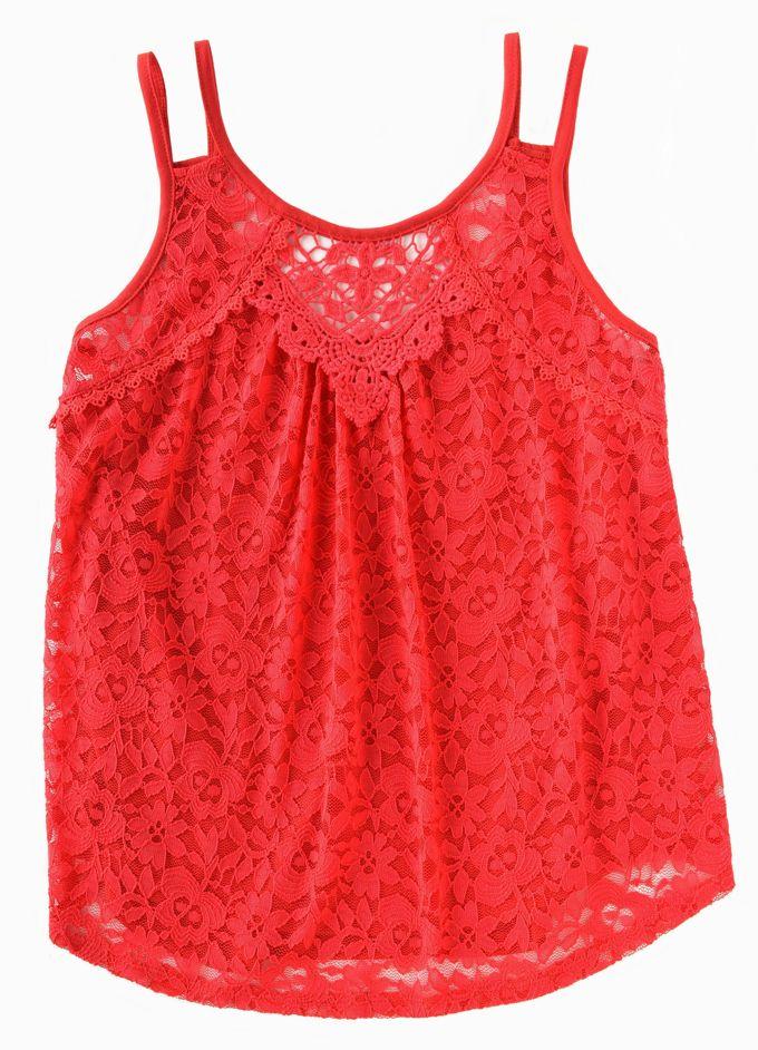 Lace Tops - Double Strap Crochet Tank | yesilovewalmart.com