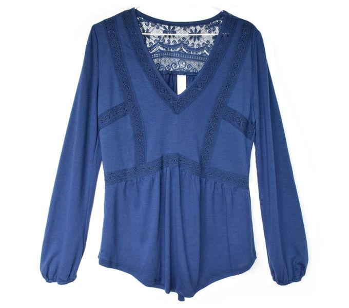 fall-lace-tops-navy | yesilovewalmart.com