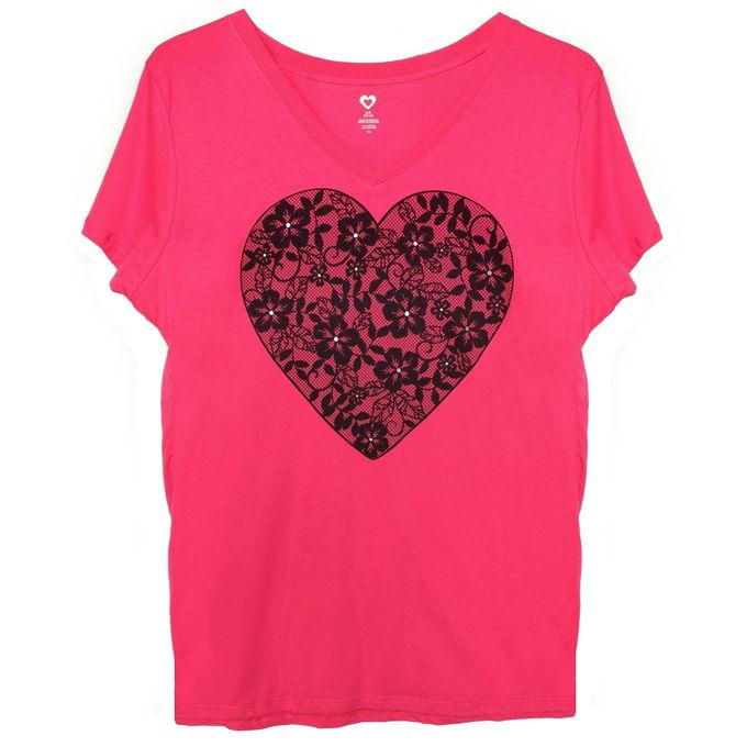 Valentine Shirts - Lace Heart | yesilovewalmart.com