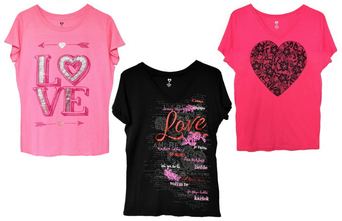 Valentine Shirts | yesilovewalmart.com