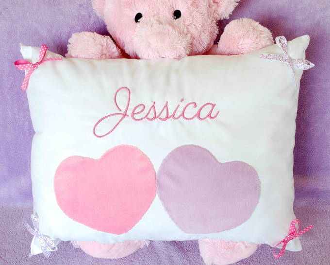 Personalized Heart Pillow - Bear | yestilovewalmart.com